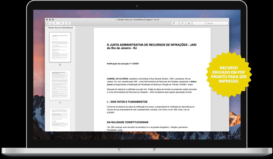 Notebook com tela mostrando recurso pronto